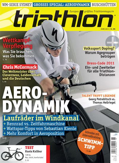 Der Titel der aktuellen Triathlon / tri-mag.de