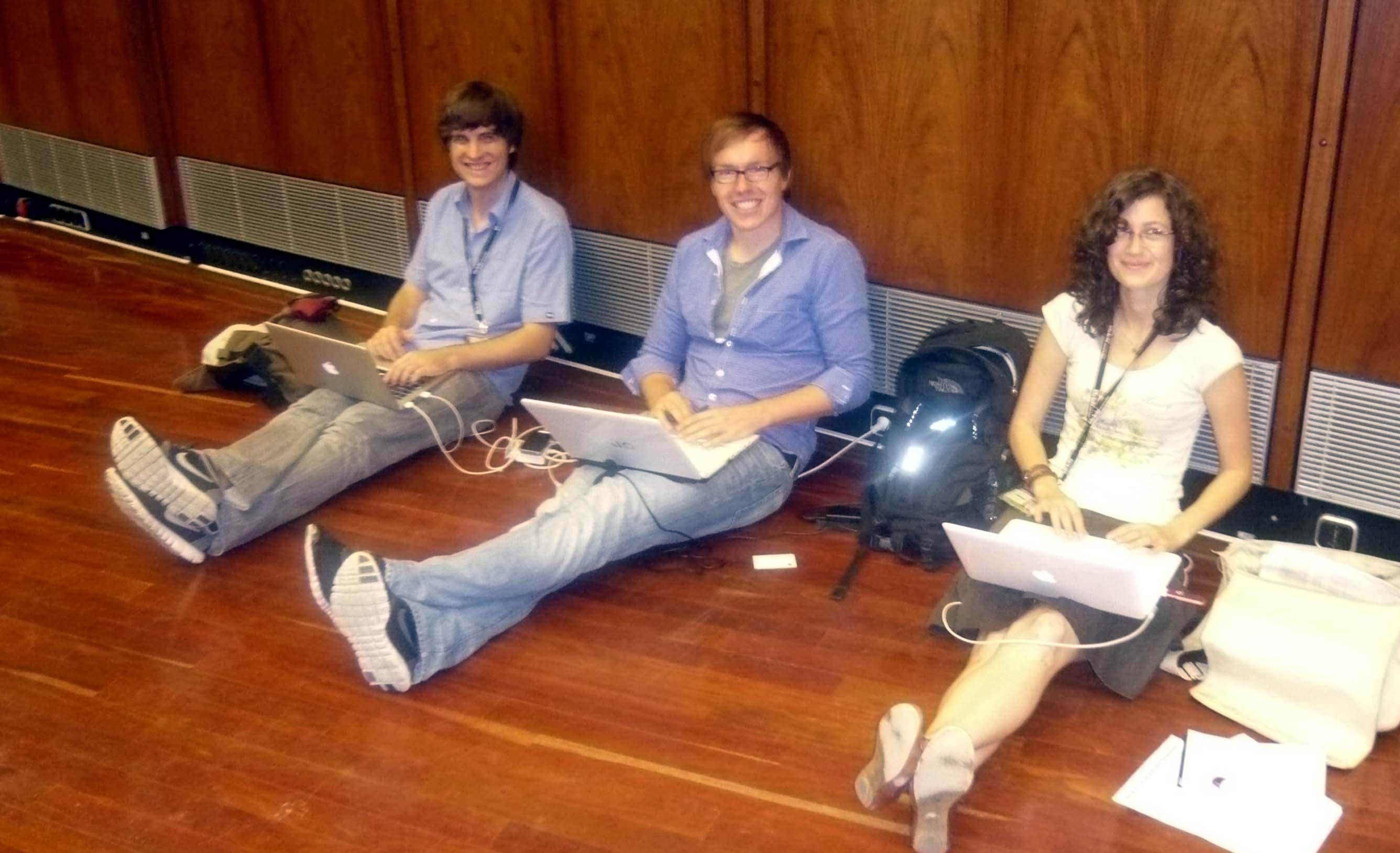 Von links: Jonathan, Daniel und Anja. / Foto: Ein Leser